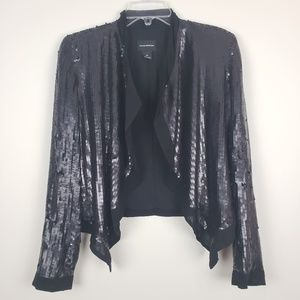 Club Monaco Black Sequin Blazer Small